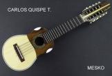 Carlos Quispe T. Charango con Equalizador Joyo JE - 303 Incluye Afinador; Incluye Funda