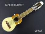 Carlos Quispe T. Charango Especial, Tapa Pino Abeto, Caja de Naranjillo, Puente y Diapason de Jacarandá, Incluye Funda  # 37