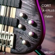 Cort A 4 PLUS FMMH, Activo Bajo  Eléctrico 4 Cuerdas, 24 Espacios, Nivel Profesional